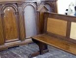 kirke stillinge, bænke,panel